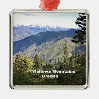 Montañas de Wallowa, Oregon Adorno Navideño Cuadrado De Metal