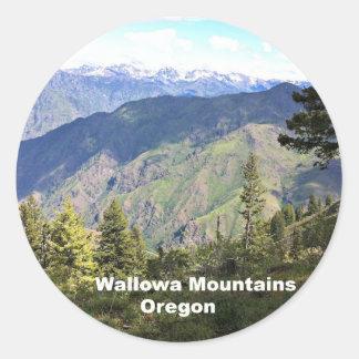 Montañas de Wallowa, Oregon Pegatina Redonda