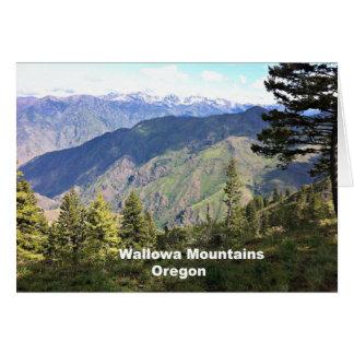 Montañas de Wallowa, Oregon Tarjeta De Felicitación