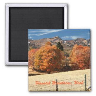Montañas de Wasatch, Utah Imán Cuadrado