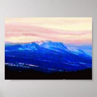 Montañas de Whispy, Terranova, arte de la foto de  Póster