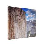Montañas de Yosemite Lona Envuelta Para Galerias