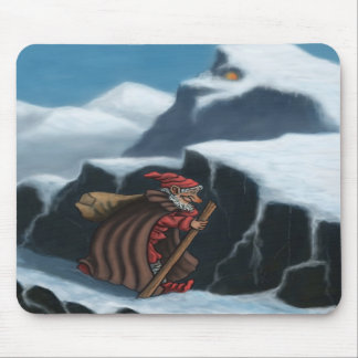 montañas del chaval del yule tapete de raton