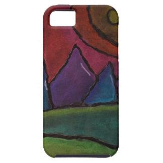 Montañas del color iPhone 5 cobertura