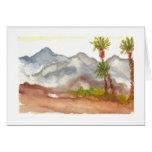 Montañas del desierto tarjeton