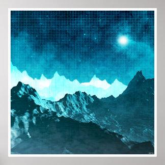 Montañas del espacio póster