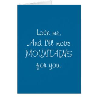 Montañas del movimiento - tarjeta divertida