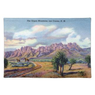 Montañas del órgano de Las Cruces New México Manteles