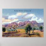 Montañas del órgano de Las Cruces New México Impresiones