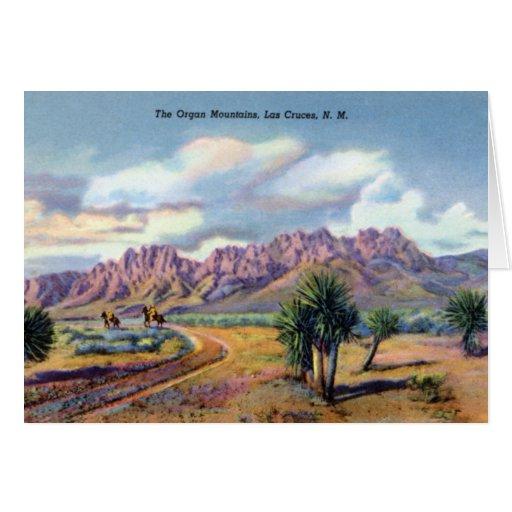 Montañas del órgano de Las Cruces New México Tarjeta