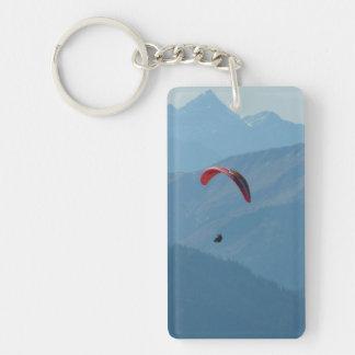 Montañas del Paragliding del ala flexible Llavero Rectangular Acrílico A Una Cara