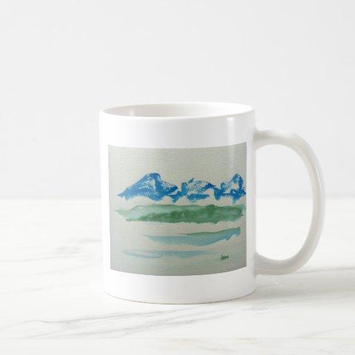 montañas del zen taza