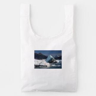 montañas e hielo bolsa reutilizable