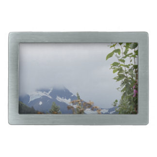 Montañas en Alaska Hebillas Cinturon Rectangulares