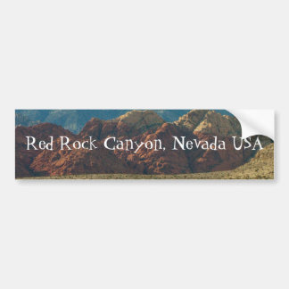 Montañas en el desierto; Recuerdo de Nevada Etiqueta De Parachoque