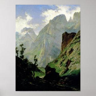 Montañas en Europa 1876 Poster
