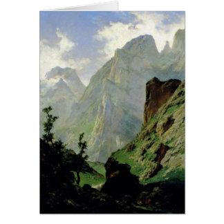 Montañas en Europa 1876 Felicitación