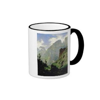 Montañas en Europa 1876 Taza