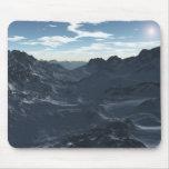 Montañas en invierno tapete de ratón
