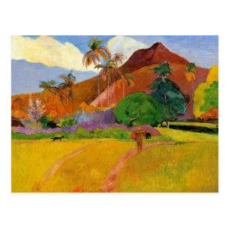 """Montañas en la postal de Tahití"" - Paul Gauguin"