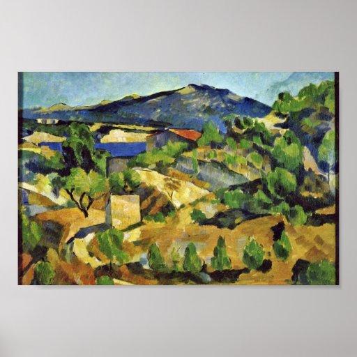 Montañas en la Provence francesa de Paul Cézanne Impresiones
