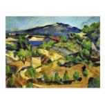 Montañas en la Provence francesa de Paul Cézanne Tarjeta Postal