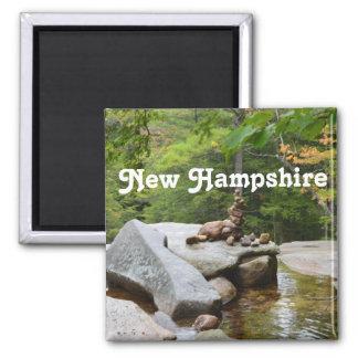Montañas en New Hampshire Imán Cuadrado