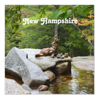 """Montañas en New Hampshire Invitación 5.25"""" X 5.25"""""""
