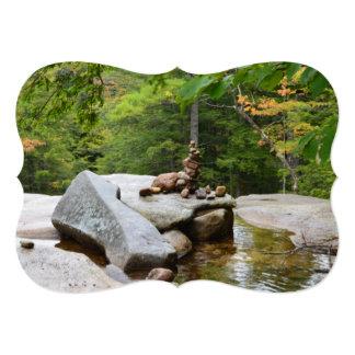 """Montañas en New Hampshire Invitación 5"""" X 7"""""""