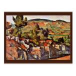 Montañas en Provence de Paul Cézanne Tarjeta Postal