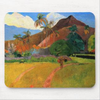 Montañas en Tahití Gauguin que pinta colorido Mouse Pad
