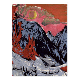Montañas en Winter, 1919 Tarjetas Postales