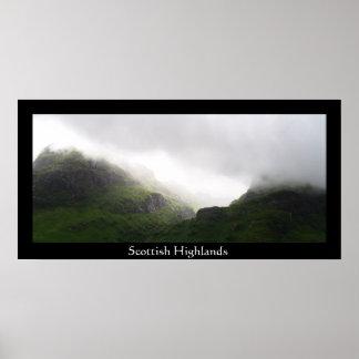Montañas escocesas poster