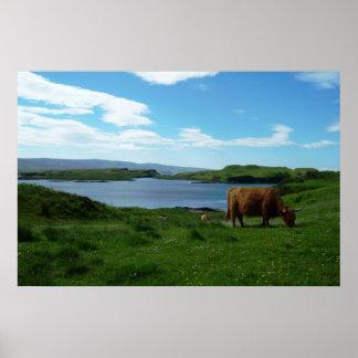Montañas escocesas póster