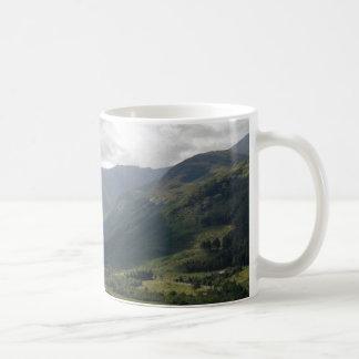 Montañas escocesas tazas