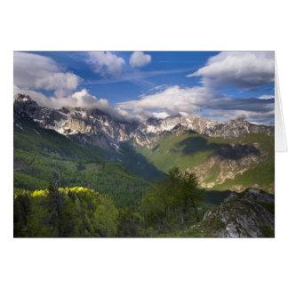 Montañas, Eslovenia Tarjeta