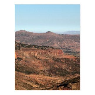 Montañas etíopes tarjeta postal