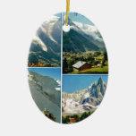 Montañas francesas del vintage, Chamonix Mt Blanc Adorno Para Reyes