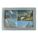 Montañas francesas del vintage, Chamonix Mt Blanc Hebilla De Cinturón Rectangular