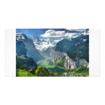 Montañas impresionantes de Suiza Tarjetas Fotográficas