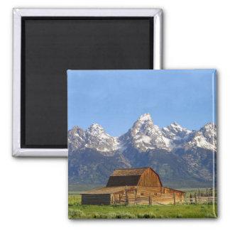 Montañas magníficas de Teton Imán Cuadrado