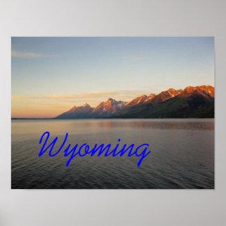 Montañas magníficas de Wyoming Teton Póster