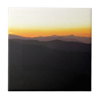 Montañas majestuosas teja