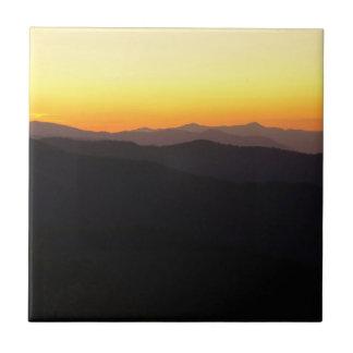 Montañas majestuosas tejas