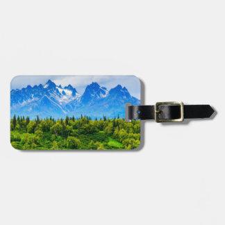 Montañas majestuosas de Alaska Etiquetas De Equipaje