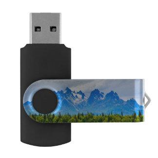 Montañas majestuosas de Alaska Memoria USB
