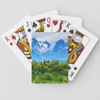 Montañas majestuosas de Alaska Cartas De Póquer