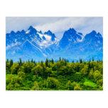 Montañas majestuosas de Alaska Postal