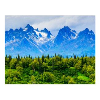 Montañas majestuosas de Alaska Postales