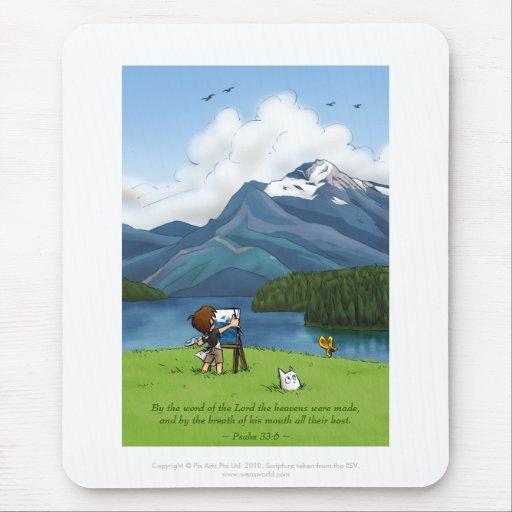 Montañas Mousepad de la pintura Tapetes De Ratones